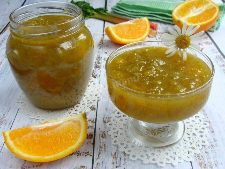 Варенье из ревеня с апельсином
